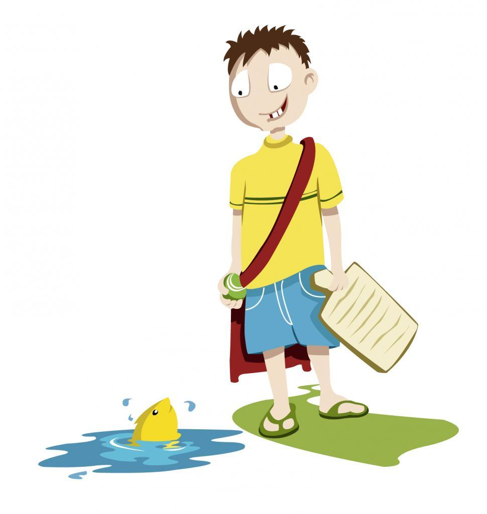 Download Free Stock HD Photo of Illustration - Kid going school Online