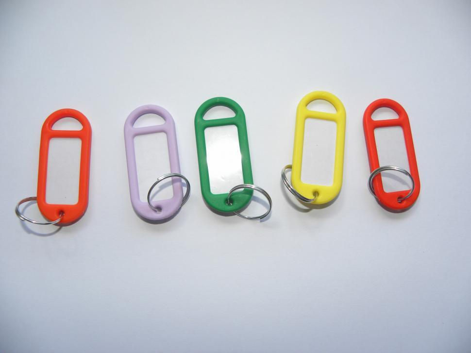 Download Free Stock HD Photo of Colourful keyrings  Online