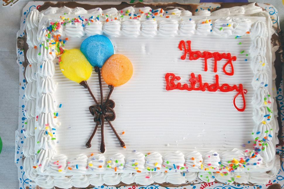 Download Free Stock Photo of Blank Birthday Cake