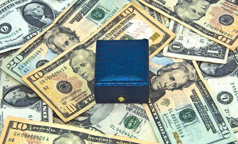 Download Free Stock Photo of Giftbox and Money