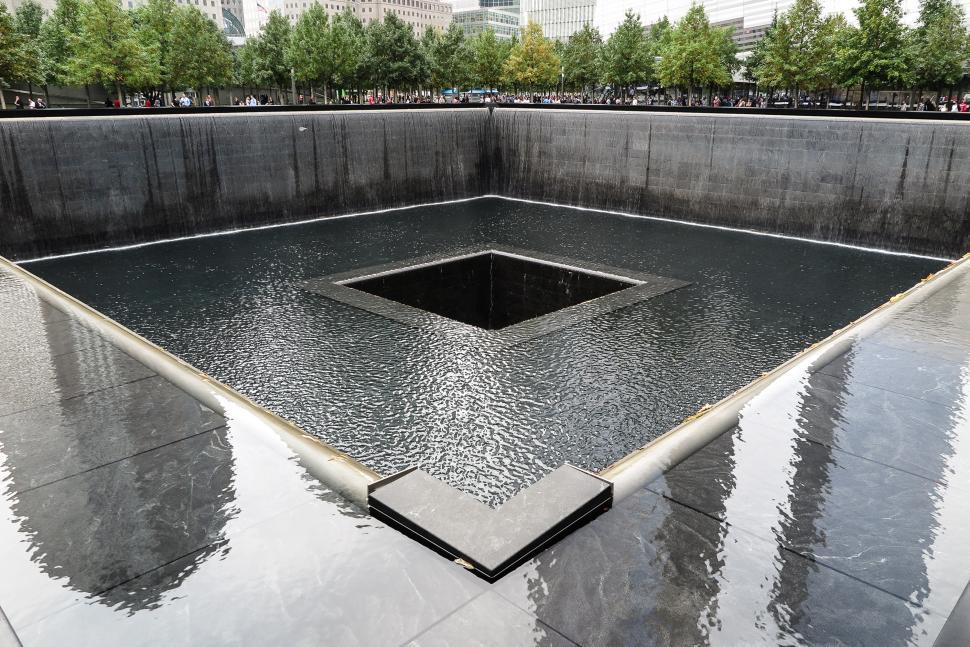 Download Free Stock Photo of 911 Memorial Reflecting Pool
