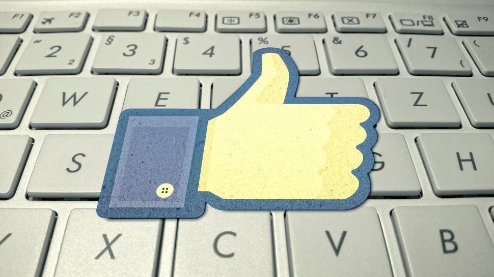 Download Free Stock Photo of Facebook Logo on Computer Keyboard