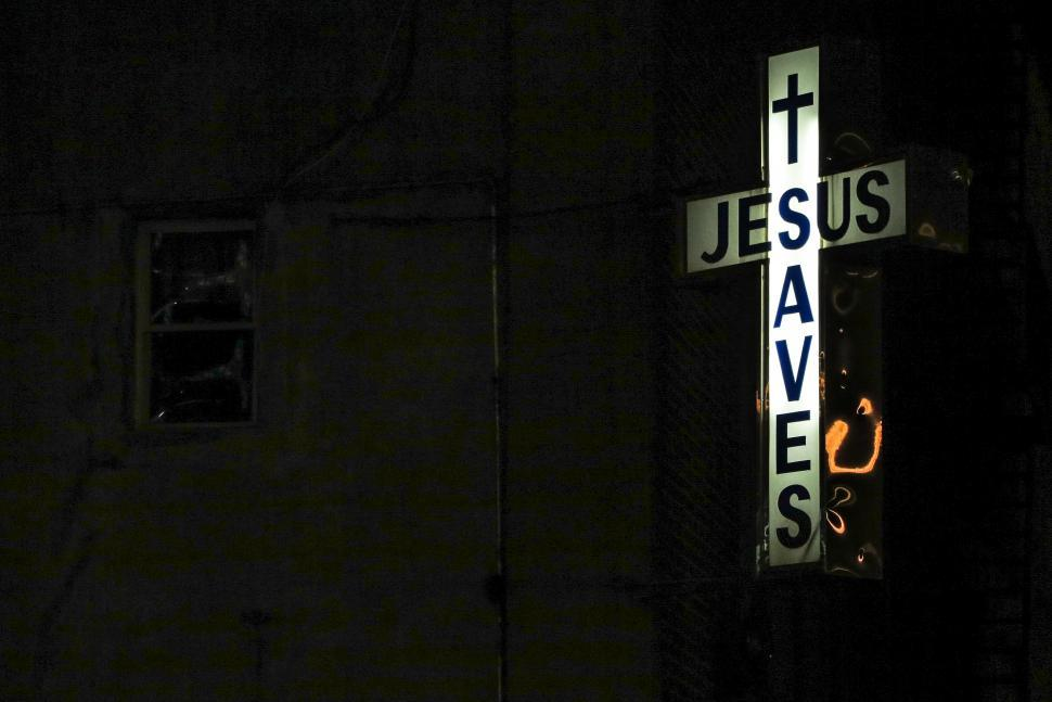 Download Free Stock HD Photo of Jesus Saves sign Online