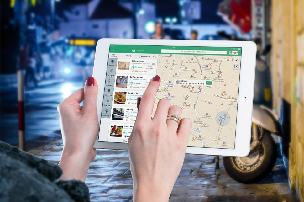 Download Free Stock HD Photo of Navigation on a mobile tablet computer Online