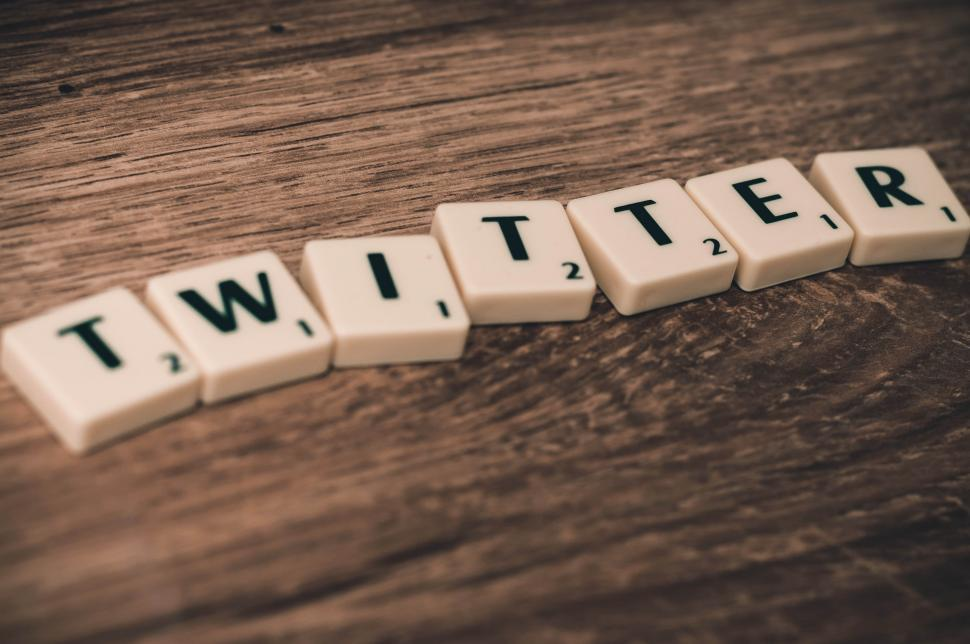 Download Free Stock Photo of Letters spell TWITTER
