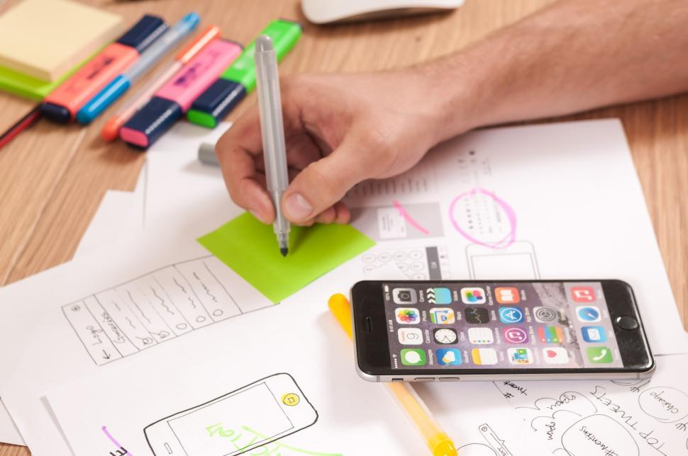Download Free Stock HD Photo of Mobile app UI design Online