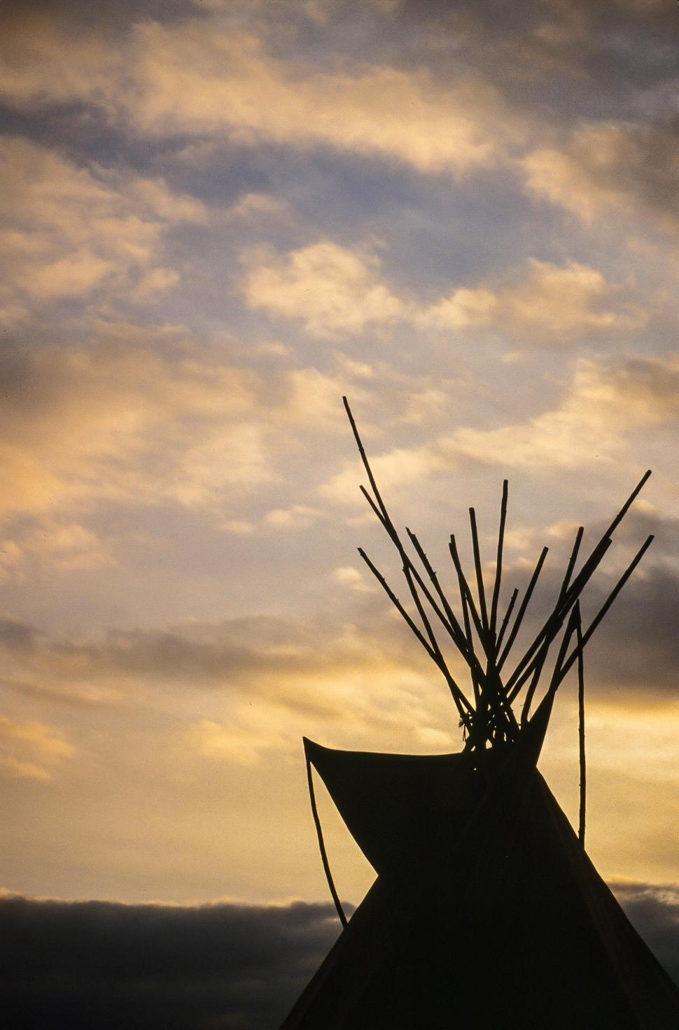 Download Free Stock HD Photo of Teepee silhouette Online