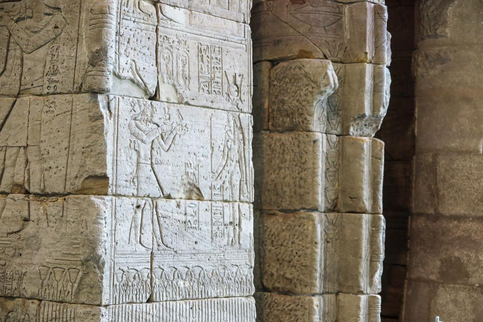 Download Free Stock HD Photo of Entry carvings on The Temple of Dendur Online