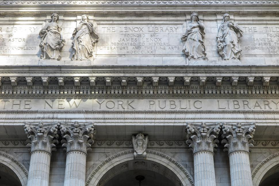 Download Free Stock HD Photo of New York Public Library facade Online