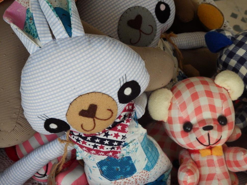 Download Free Stock Photo of Handmade Teddy Bear Toys