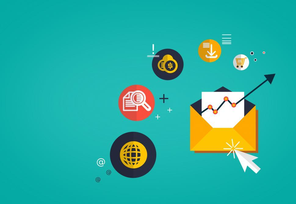 Download Free Stock Photo of Email Marketing Concept - With Copyspace