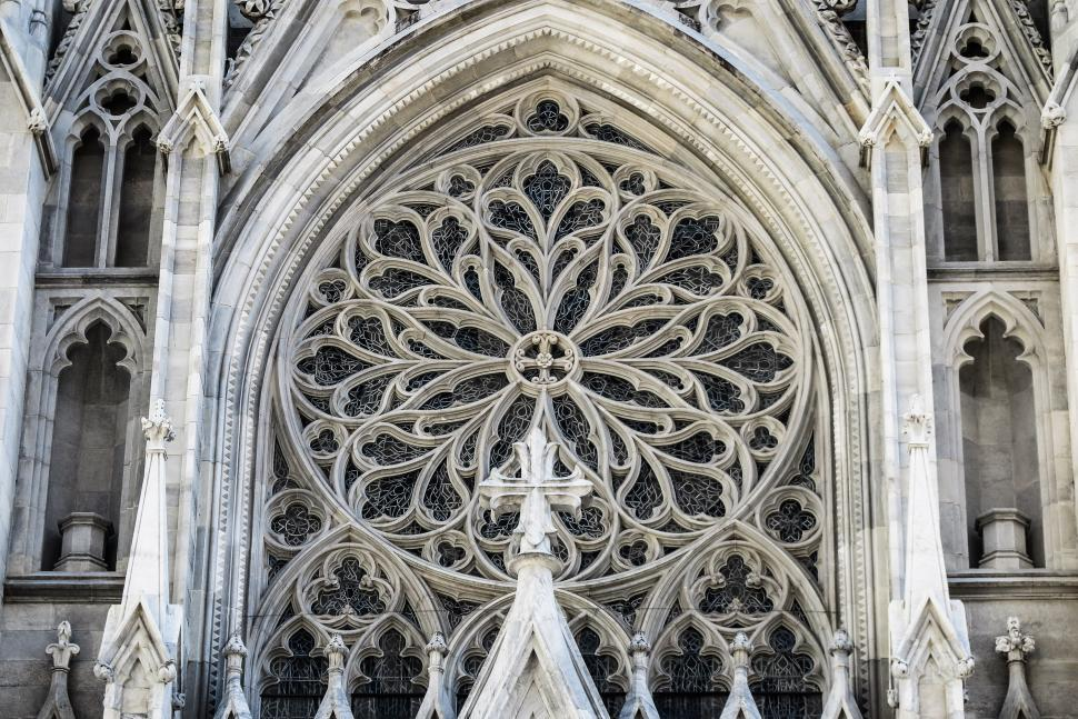 Download Free Stock HD Photo of Rosette window St. Patrick s Cathedral Online