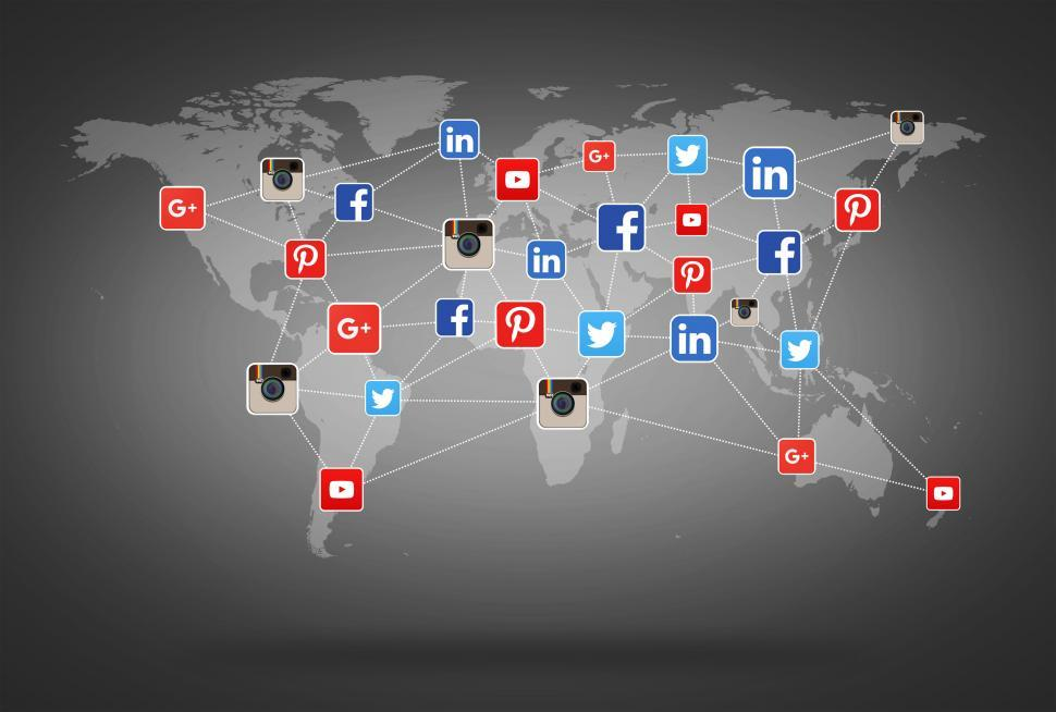 Download Free Stock Photo of Network of Social Media Networks - Concept