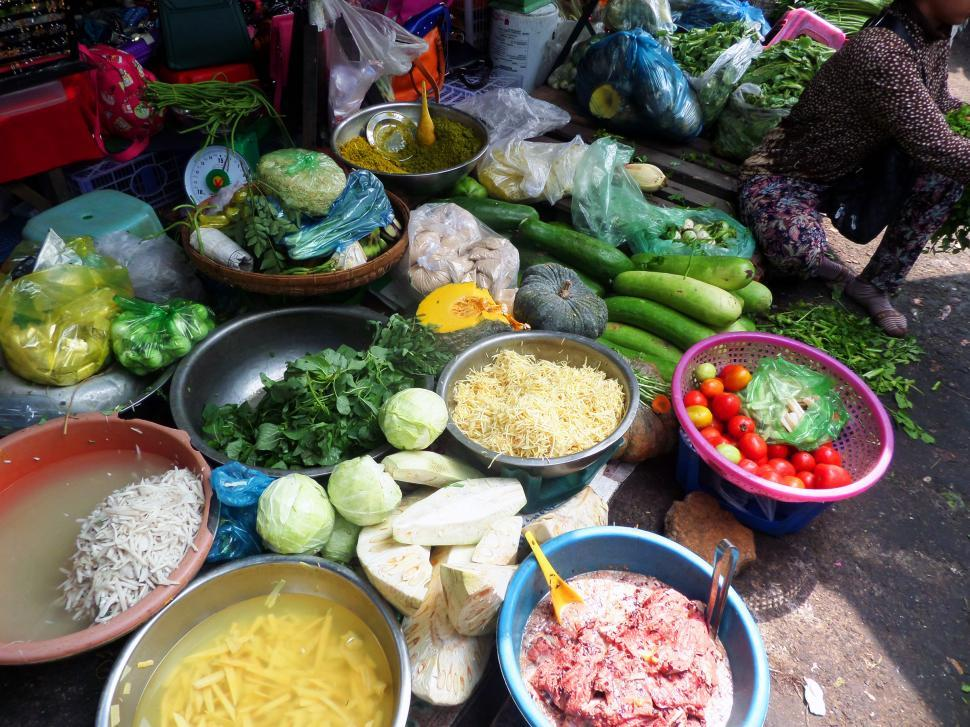 Download Free Stock Photo of Cambodian Food ingredients