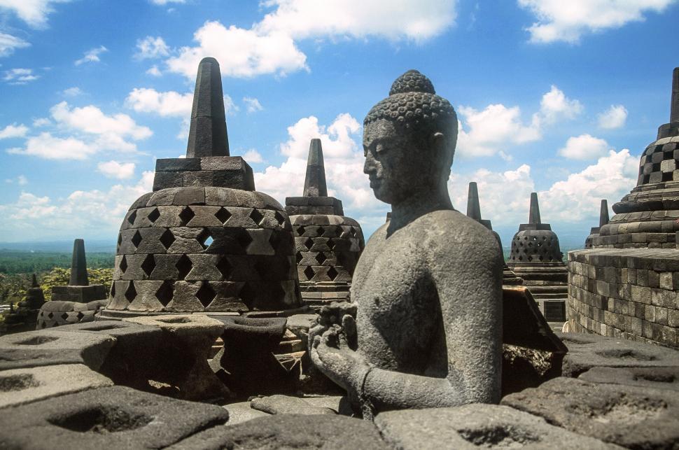 Download Free Stock Photo of Borobudur also known as Barabudur