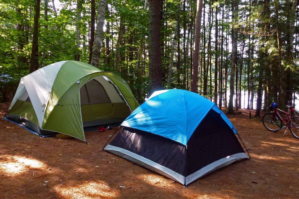 Download Free Stock Photo of Two Tents