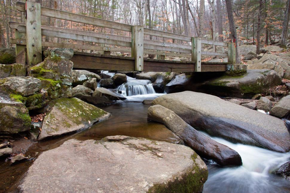 Download Free Stock HD Photo of Foot Bridge at Hacklebarney State Park Online