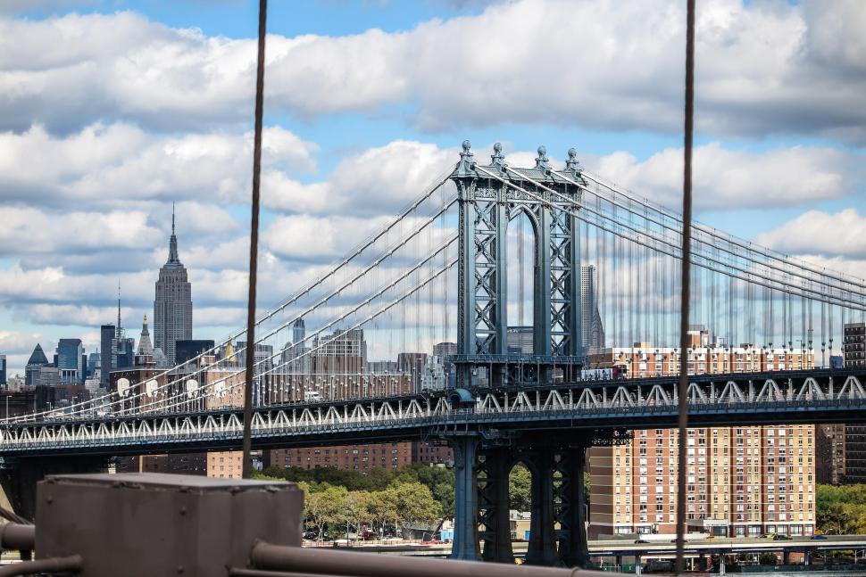 Download Free Stock Photo of The Manhattan Bridge