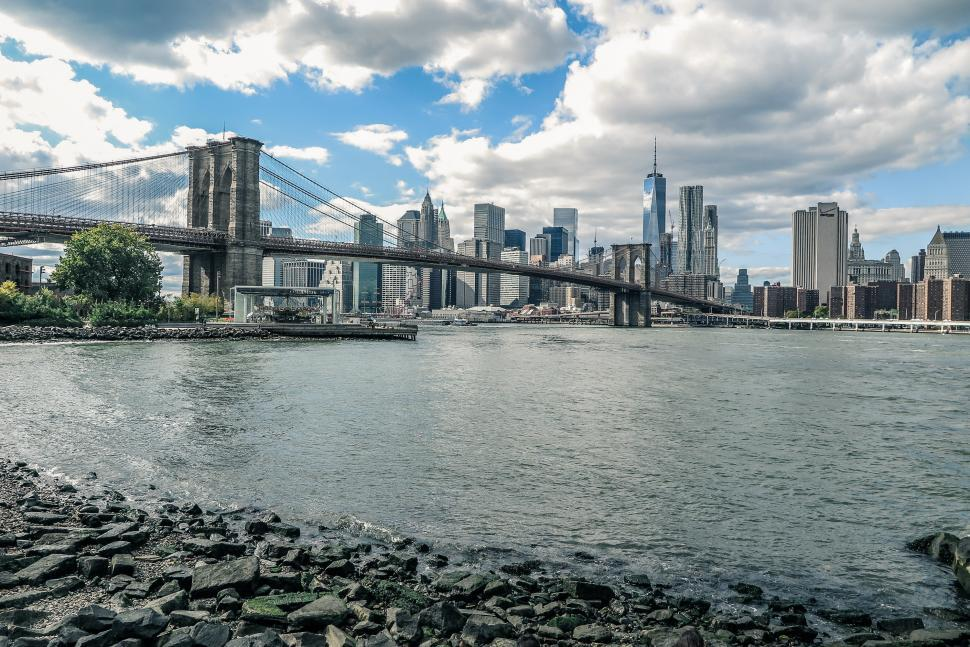 Download Free Stock HD Photo of Manhattan from Brooklyn Online