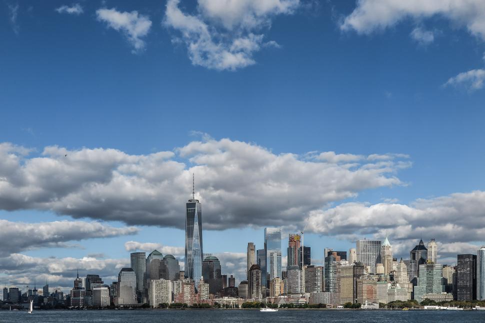 Download Free Stock Photo of Manhattan Skyline