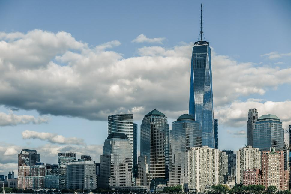 Download Free Stock HD Photo of One WTC Tower in Lower Manhattan Online