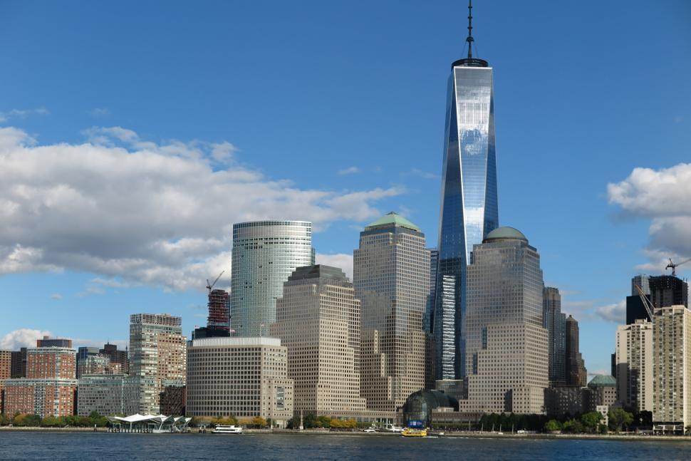 Download Free Stock Photo of Clear day in Lower Manhattan