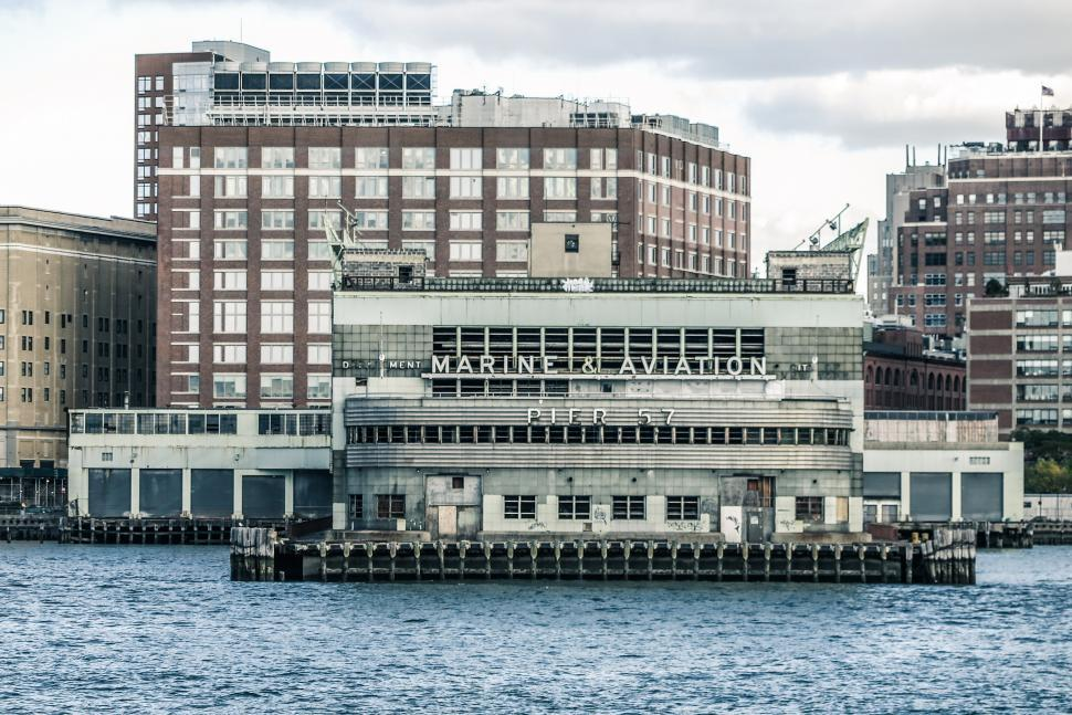 Download Free Stock Photo of Pier 57 in New York Harbor