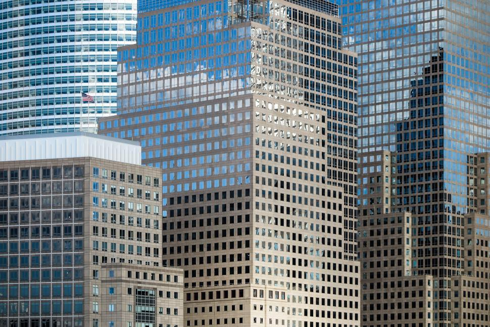 Download Free Stock Photo of Reflections in NYC window