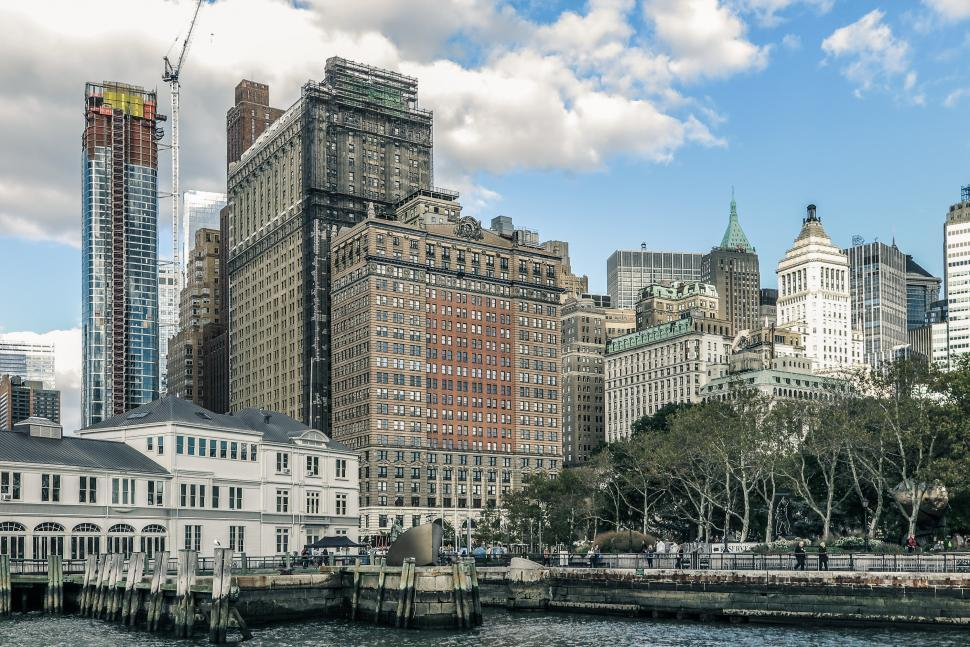 Download Free Stock HD Photo of Battery Park, Lower Manhattan Online