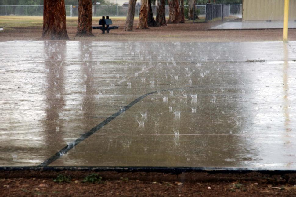 Download Free Stock Photo of Rain on concrete
