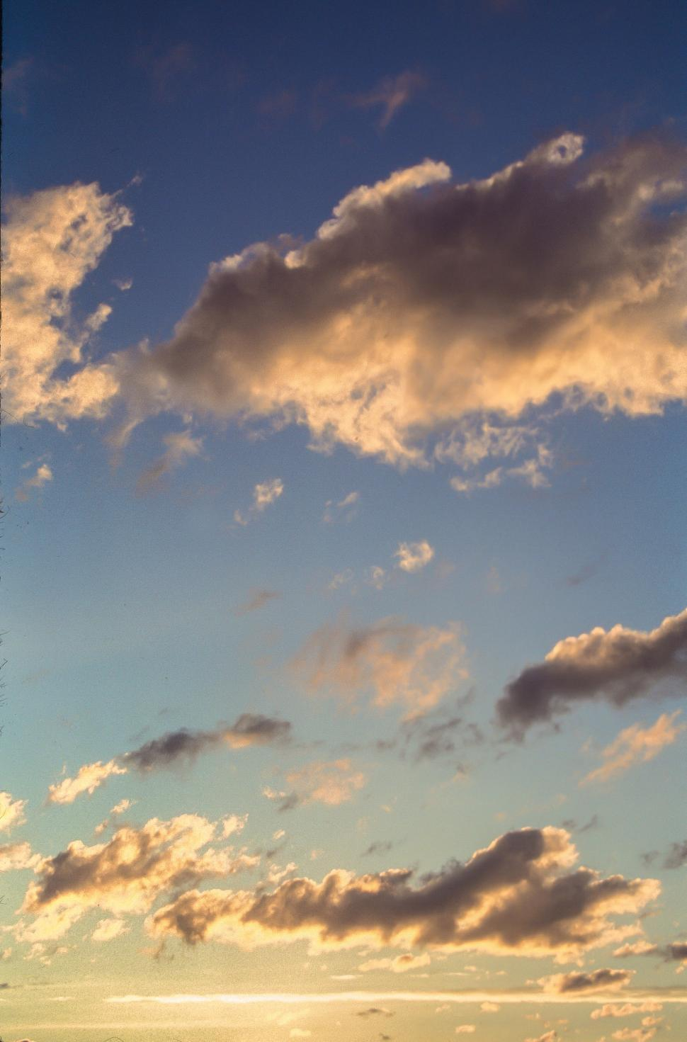 Download Free Stock HD Photo of Bright evening sky Online