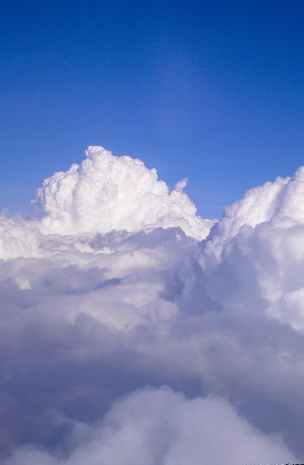 Download Free Stock Photo of Top view of fluffy Clouds