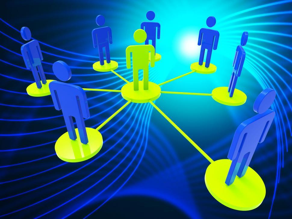Download Free Stock Photo of Network Of People Represents Global Communications And Computer