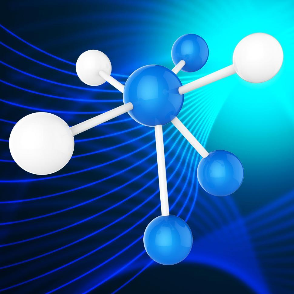 Download Free Stock Photo of Atom Molecule Indicates Chemical Science And Scientist