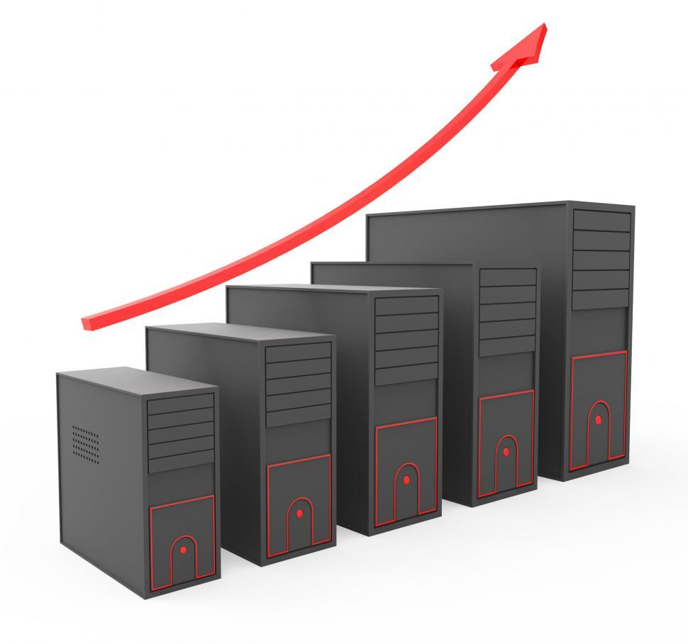Download Free Stock HD Photo of Increase Computer Storage Shows Storehouse Store And Pc Online