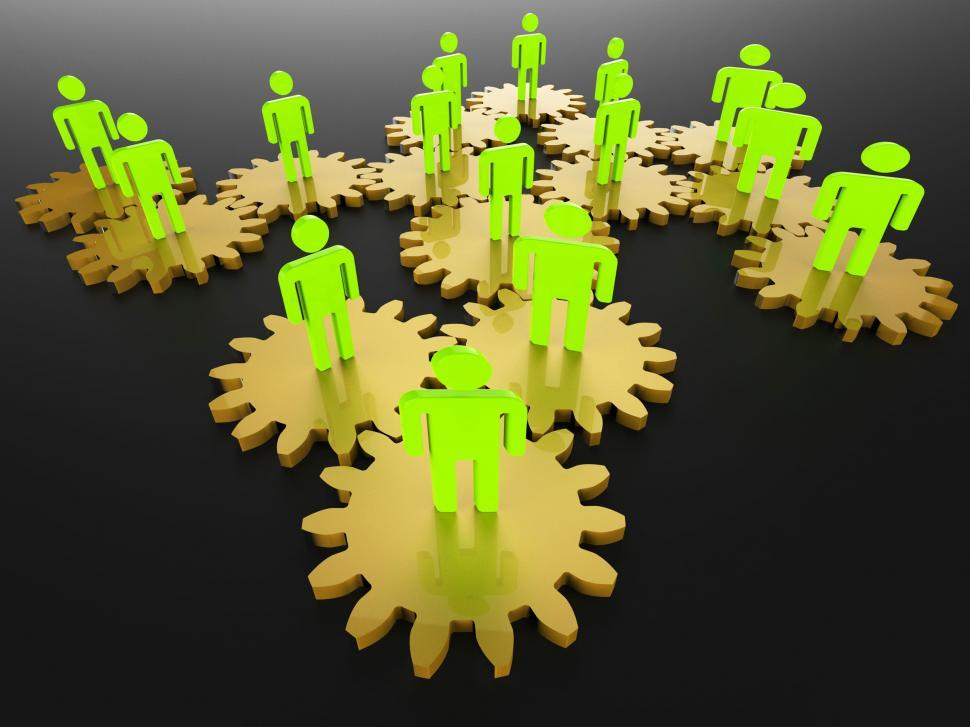 Download Free Stock Photo of People Network Shows Server Togetherness And Pc