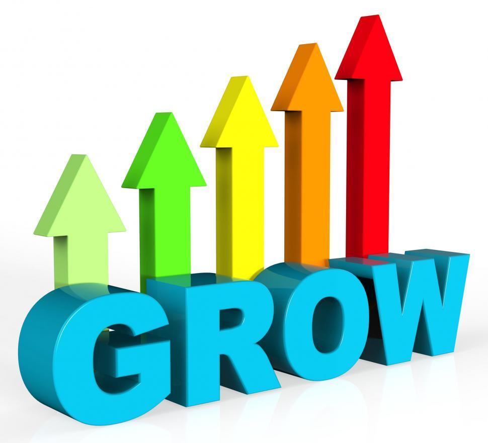 Download Free Stock Photo of Grow And Invest Indicates Return On Investment And Develop