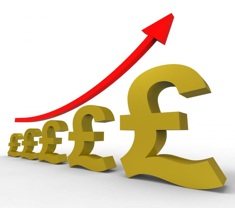 Download Free Stock Photo of Gpp Increasing Means Costs Cost And Rising