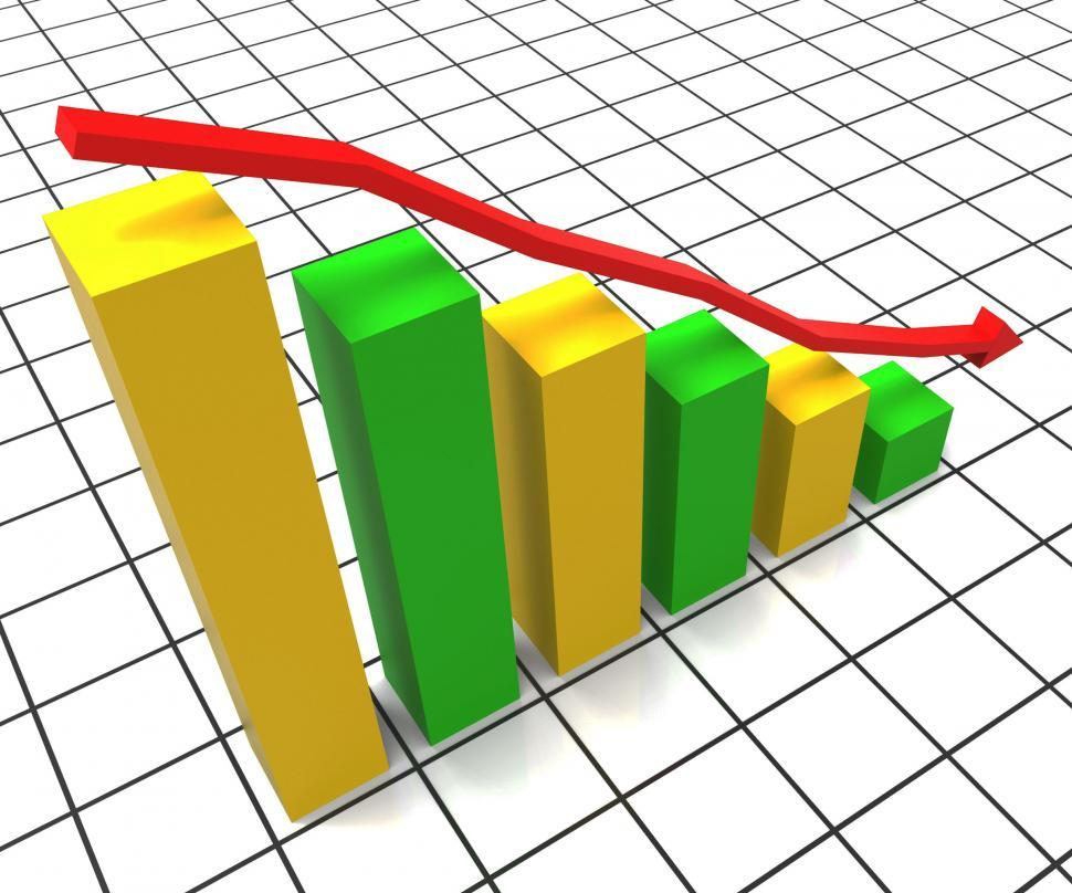 Download Free Stock HD Photo of Decreasing Report Represents Business Graph And Decrease Online