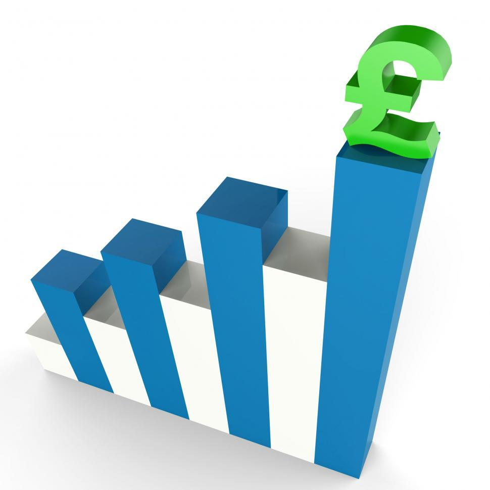 Download Free Stock HD Photo of Pound Gain Shows Financial Report And Diagram Online