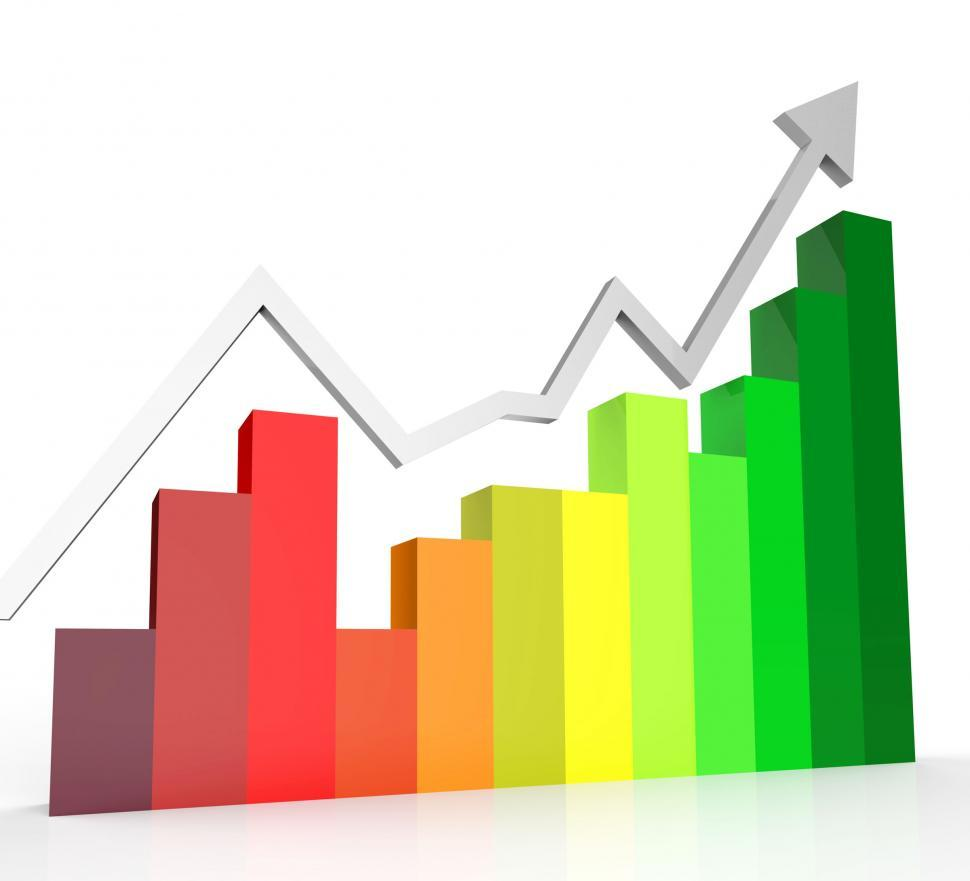 Download Free Stock Photo of Increasing Graph Shows Financial Report And Biz