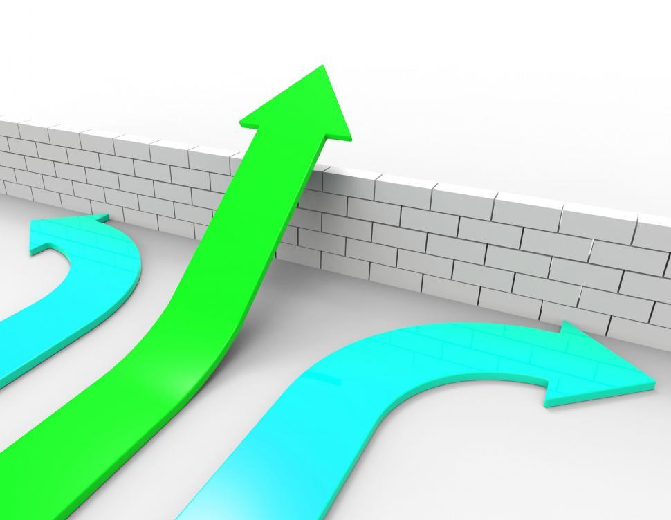 Download Free Stock HD Photo of Success Arrow Means Jump Hurdle And Arrows Online