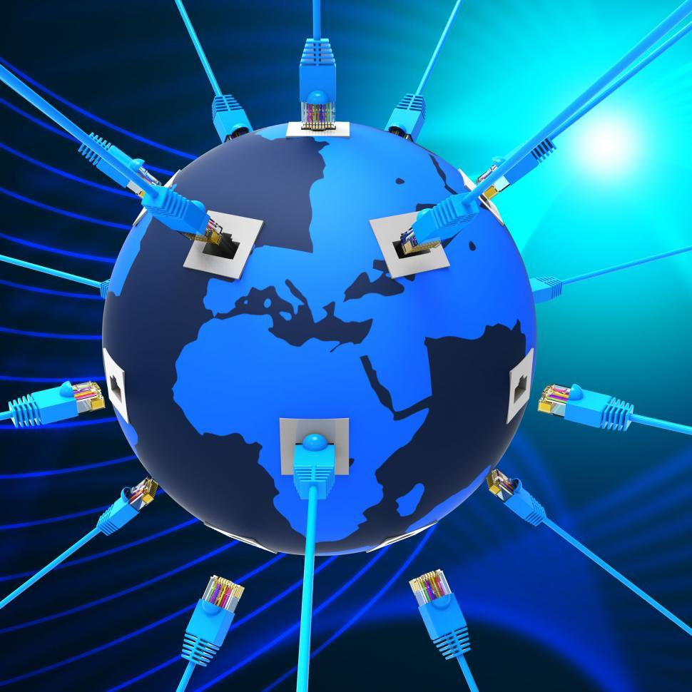 Download Free Stock HD Photo of Worldwide Network Means Web Site And Connection Online