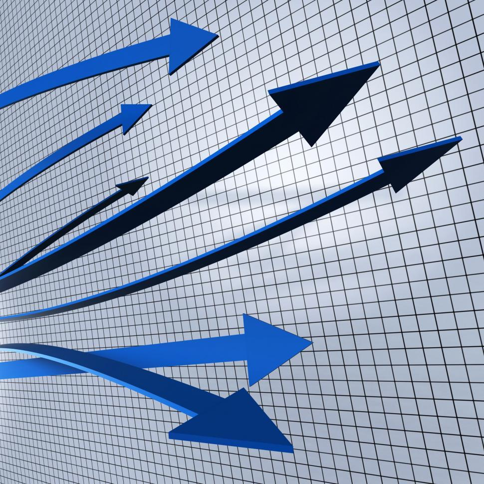Download Free Stock Photo of Progress Arrows Shows Business Graph And Advancement