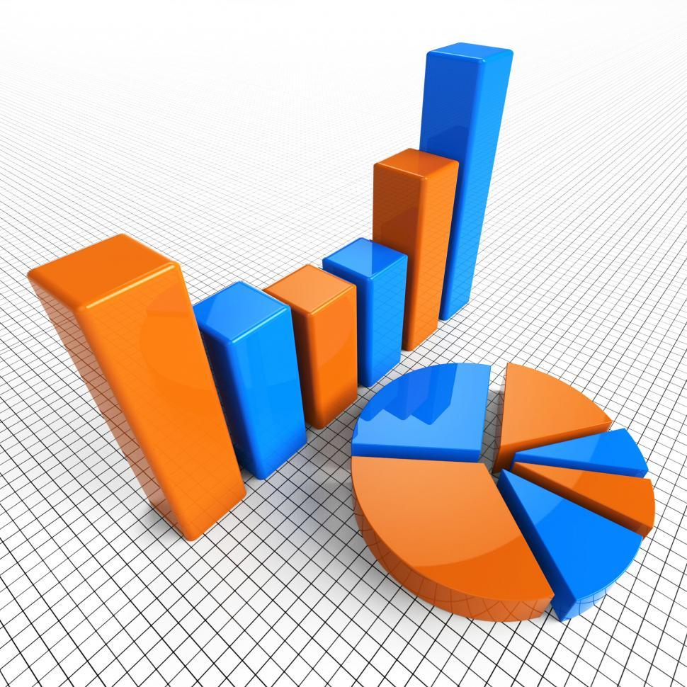 Download Free Stock HD Photo of Graph Report Indicates Business Statistic And Diagram Online
