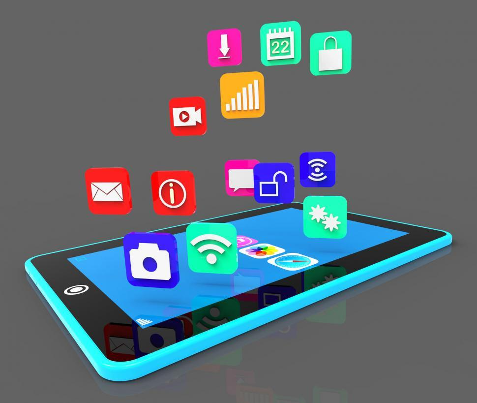 Download Free Stock Photo of Social Media Phone Shows Application Software And Applications