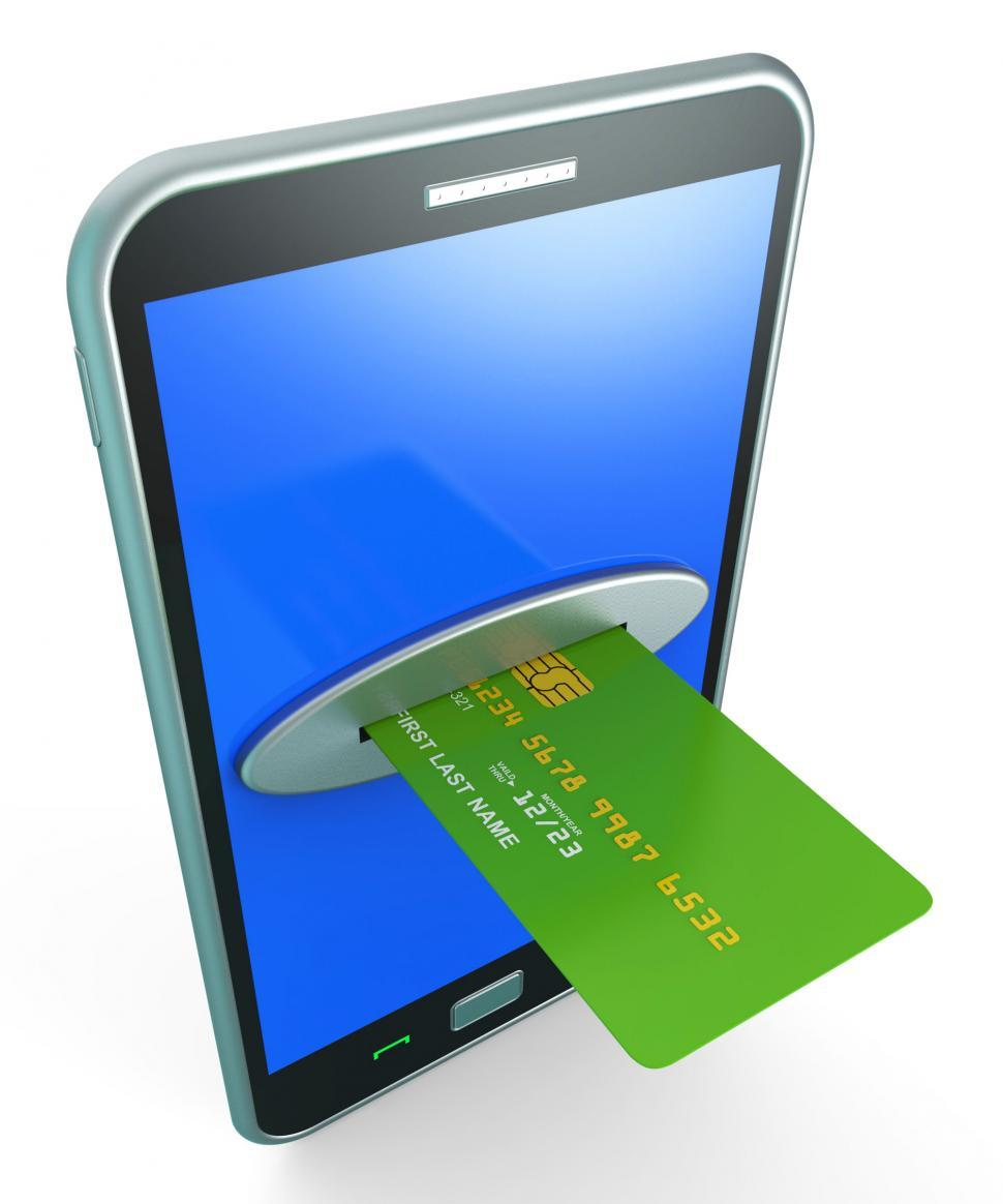 Download Free Stock Photo of Credit Card Online Shows Retail Sales And Web