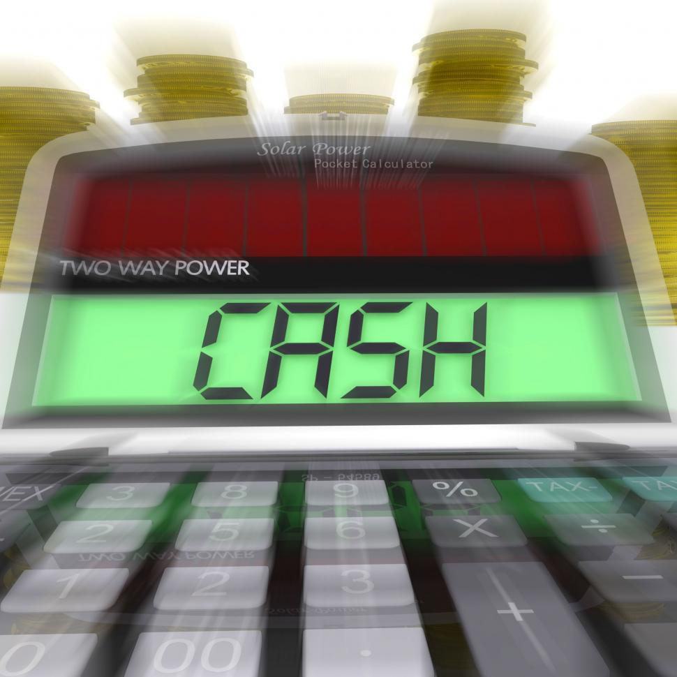 Download Free Stock Photo of Cash Calculated Means Finances Savings Or Loan