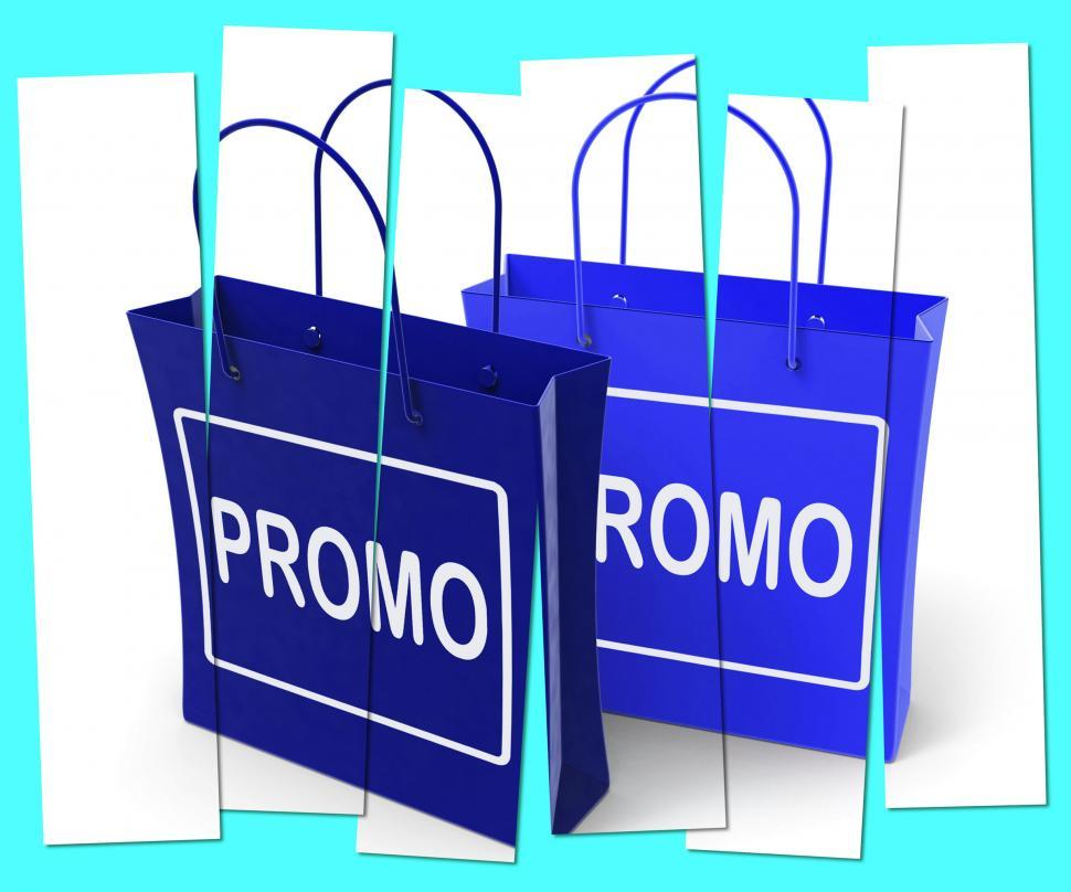 Download Free Stock Photo of Promo Shopping Bags Show Discount Reduction or Sale