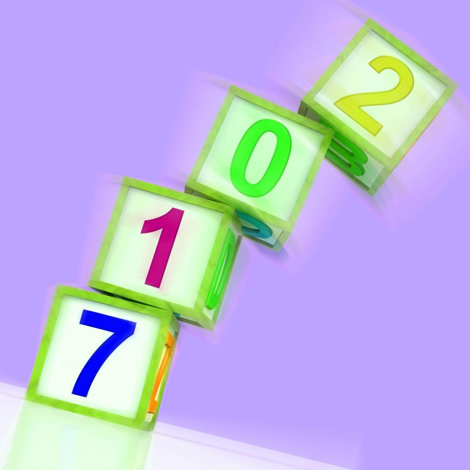 Download Free Stock Photo of Two Thousand And Seventeen Word Show Year 2017